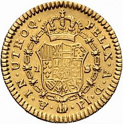 Large Reverse for 1 Escudo 1806 coin
