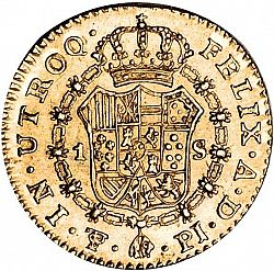 Large Reverse for 1 Escudo 1808 coin