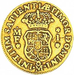 Large Reverse for 1 Escudo 1739 coin