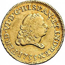 Large Obverse for 1 Escudo 1755 coin