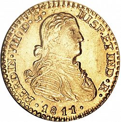 Large Obverse for 1 Escudo 1811 coin