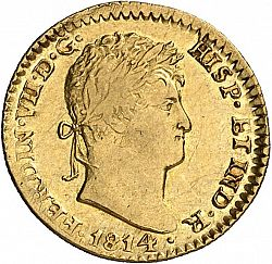 Large Obverse for 1 Escudo 1814 coin