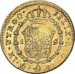 Large Reverse for 1 Escudo 1814 coin