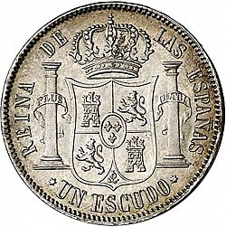 Large Reverse for 1 Escudo 1867 coin