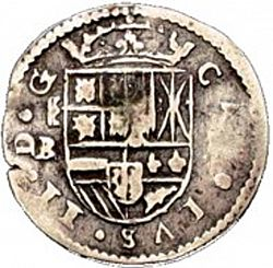 Large Obverse for 1 Real 1684 coin