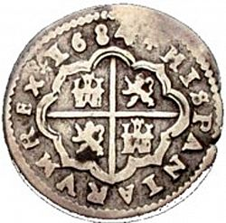Large Reverse for 1 Real 1684 coin