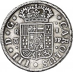 Large Obverse for 1 Real 1762 coin