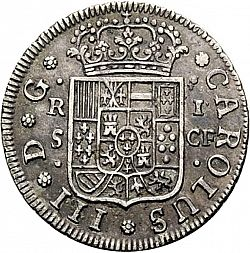 Large Obverse for 1 Real 1770 coin