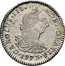 Large Obverse for 1 Real 1773 coin