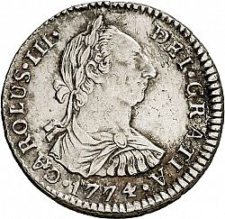 Large Obverse for 1 Real 1774 coin