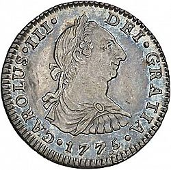 Large Obverse for 1 Real 1775 coin