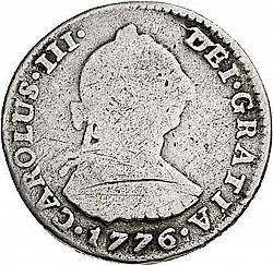 Large Obverse for 1 Real 1776 coin