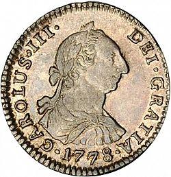 Large Obverse for 1 Real 1778 coin