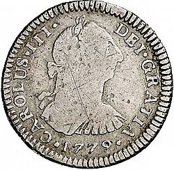 Large Obverse for 1 Real 1779 coin