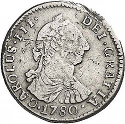 Large Obverse for 1 Real 1780 coin