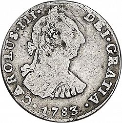 Large Obverse for 1 Real 1783 coin