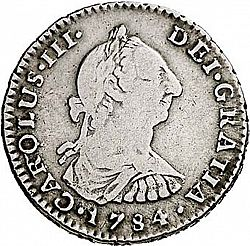 Large Obverse for 1 Real 1784 coin