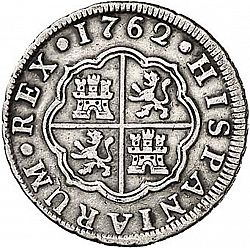 Large Reverse for 1 Real 1762 coin
