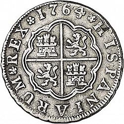 Large Reverse for 1 Real 1764 coin