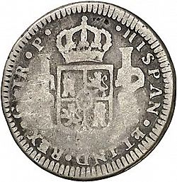 Large Reverse for 1 Real 1772 coin