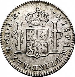 Large Reverse for 1 Real 1773 coin