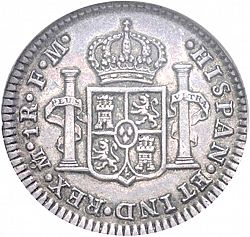 Large Reverse for 1 Real 1774 coin