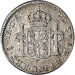 Large Reverse for 1 Real 1778 coin