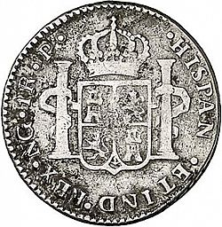 Large Reverse for 1 Real 1782 coin