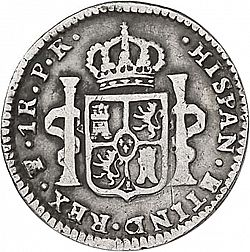 Large Reverse for 1 Real 1783 coin