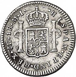 Large Reverse for 1 Real 1784 coin