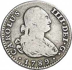 Large Obverse for 1 Real 1789 coin