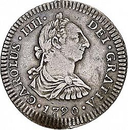 Large Obverse for 1 Real 1790 coin