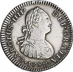 Large Obverse for 1 Real 1792 coin