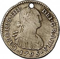 Large Obverse for 1 Real 1795 coin