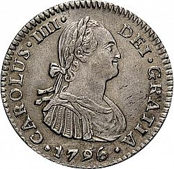 Large Obverse for 1 Real 1796 coin