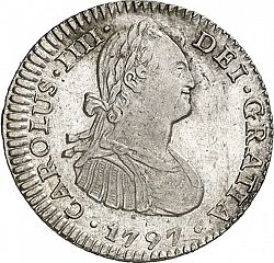 Large Obverse for 1 Real 1797 coin