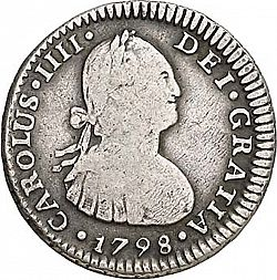 Large Obverse for 1 Real 1798 coin