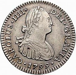 Large Obverse for 1 Real 1799 coin