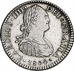 Large Obverse for 1 Real 1800 coin