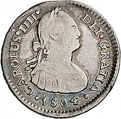 Large Obverse for 1 Real 1804 coin
