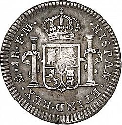 Large Reverse for 1 Real 1790 coin