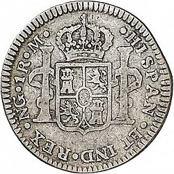 Large Reverse for 1 Real 1791 coin