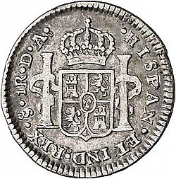 Large Reverse for 1 Real 1792 coin