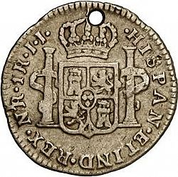 Large Reverse for 1 Real 1795 coin