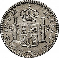 Large Reverse for 1 Real 1796 coin