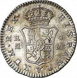 Large Reverse for 1 Real 1797 coin