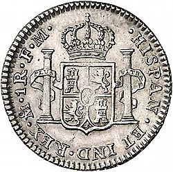 Large Reverse for 1 Real 1798 coin