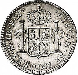 Large Reverse for 1 Real 1800 coin