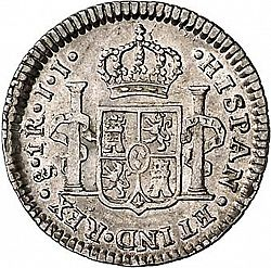 Large Reverse for 1 Real 1802 coin