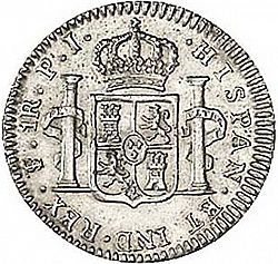 Large Reverse for 1 Real 1808 coin